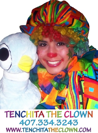 Tenchita the clown logo SM